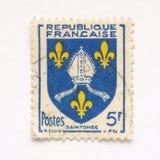 fransk stämpel royaltyfria foton