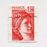 fransk stämpel Arkivfoton