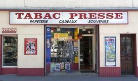 Fransk tabacpresse Arkivbilder