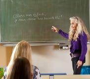 fransk teaching Arkivbild