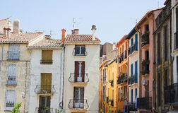 Fransk town av Collioure Arkivbilder