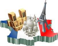 fransk turism Arkivbild