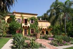 Fransk villa. Arkivfoto