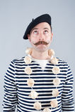 Fransk vitlöksäljare Fotografering för Bildbyråer