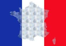 franska euros Arkivbilder