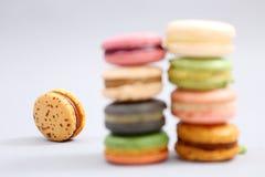Franska färgrika macarons Royaltyfri Bild