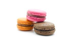 Franska färgrika macarons arkivbild