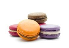 Franska färgrika macarons arkivfoto