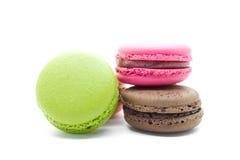 Franska färgrika macarons royaltyfri foto