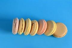 Franska färgrika macarons Royaltyfri Fotografi