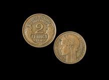 2 franska franc 1932 Arkivfoto