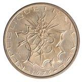 Franska 10 franc Arkivbild