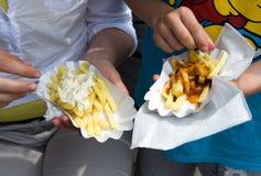 Franska frites Royaltyfri Foto