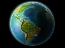 Franska Guyana i aftonen Arkivbild