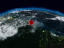 Franska Guyana på natten Arkivfoton