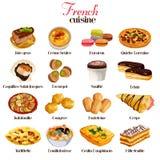 Franska kokkonstsymboler stock illustrationer
