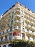 Franska koloniala byggnader på Algeriet, Alger Byggnader renowateds av den algeriska regeringen Arkivbilder