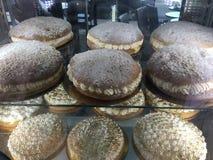 Franska kräm- kakor, Paris royaltyfri fotografi