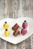 franska macarons maräng Royaltyfri Bild
