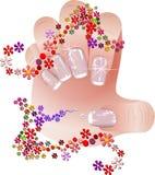 Franska manicurebaner ställde in Royaltyfria Bilder