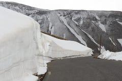 Franska maritima fjällängar för snöig bergskedjor Royaltyfria Bilder