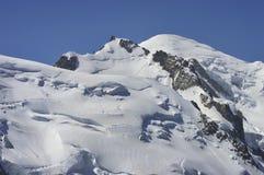 Franska Mont Blanc chamonix fjällängar Royaltyfri Bild