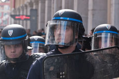 franska polisar Royaltyfria Foton