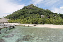 Franska Polynesien, Borabora Beachview, Frankrike, Stilla havet Fotografering för Bildbyråer