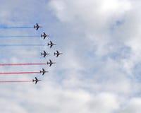 franska röda pilar Arkivbild
