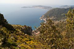 Franska Riviera Arkivbild