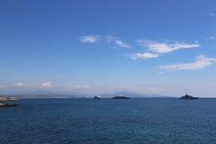 Franska Riviera vår Arkivbild