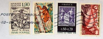 franska stämplar Arkivbild