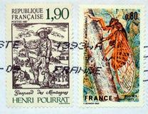franska stämplar Arkivbilder