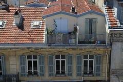 Franska tak, Nice, Frankrike Royaltyfria Bilder