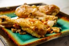 FranskaCoq Au Vin Chicken arkivfoto