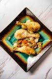 FranskaCoq Au Vin Chicken royaltyfria bilder