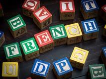 Franskagruppbegrepp Arkivbild