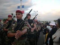 Beväpnade soldater Royaltyfria Foton