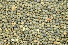 Franskan gör grön linser (lentilles du Puy) royaltyfri fotografi