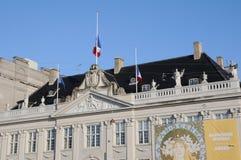 Franskan sjunker ambassaden för ar-hafmast_french i Köpenhamn Arkivfoto