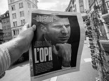 Franskan trycker på reaktioner till franska lagstiftnings- val 2017 Royaltyfri Fotografi