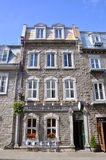 Franskan utformar huset i gammala Quebec City Arkivfoto