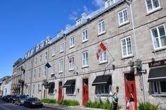 Franskan utformar huset i gammala Quebec City Royaltyfria Foton