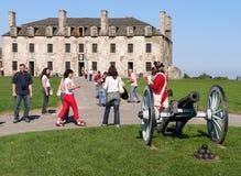 Franskaslott i det gamla fortet Niagara Arkivbild