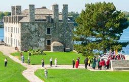 Franskaslott i det gamla fortet Niagara Royaltyfria Bilder