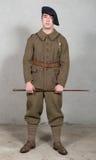 Franskasoldat i likformign 1940 för ` s Fotografering för Bildbyråer