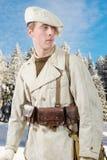 Franskt berginfanteri tjäna som soldat under det andra världskriget arkivfoto