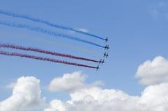 Franskt flygvapen i Paris luftshow Royaltyfri Fotografi