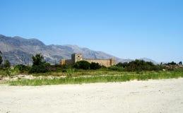 Franskt fort (Fragokastello) i den Creta ön, Grekland Royaltyfria Bilder