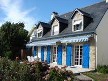 franskt hus arkivfoton